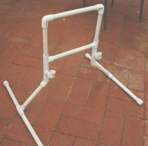 Oblique view of Lappyvator frame